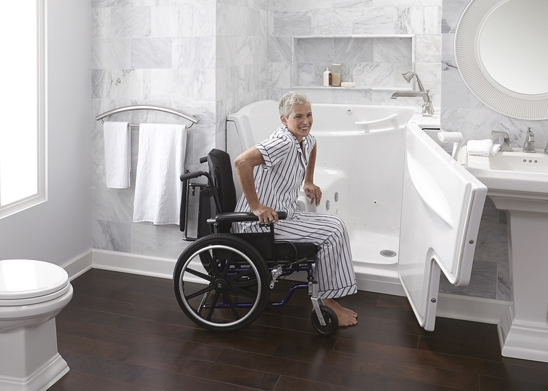 Wheelchair-Accessible Walk-in Tub