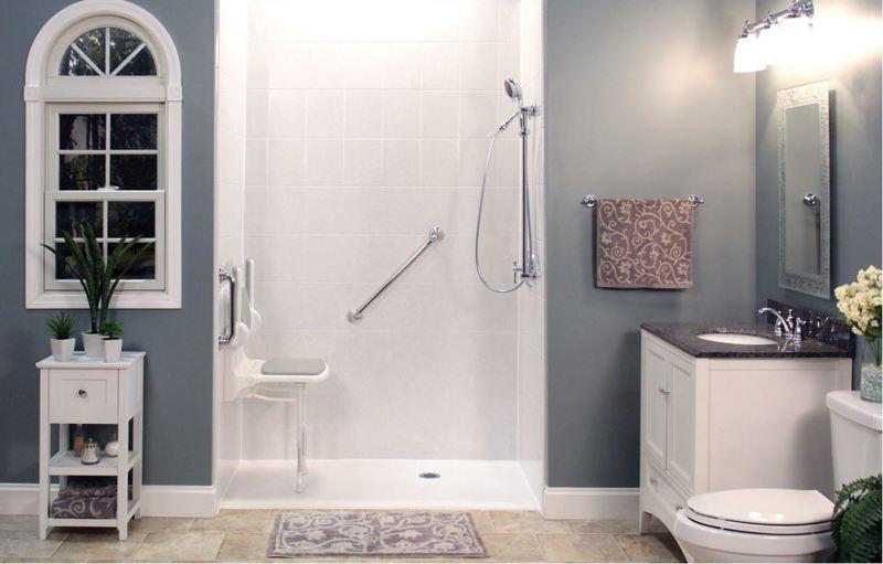 Safe Step's Custom Low-Threshold Shower