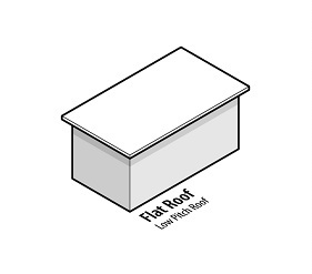 illustration of a house with a flat roof