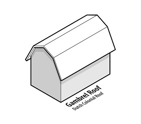 illustration of a house with a gambrel roof