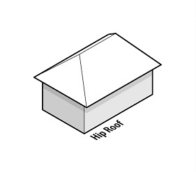 illustration of a house with a hip roof