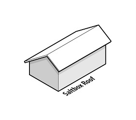 illustration of a house with a saltbox roof