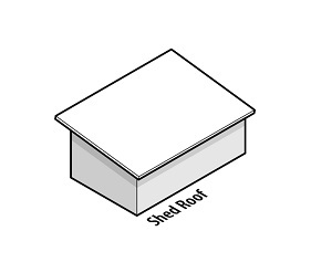 illustration of a house with a shed roof