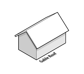 illustration of a house with a gable roof